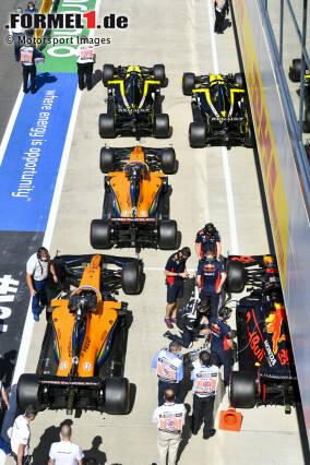Daniel Ricciardo (Renault), Esteban Ocon (Renault), Carlos Sainz (McLaren), Lando Norris (McLaren) und Max Verstappen (Red Bull)