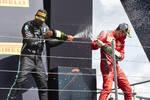 Lewis Hamilton (Mercedes) und Charles Leclerc (Ferrari)