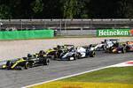 Daniel Ricciardo (Renault), Nicholas Latifi (Williams) und Esteban Ocon (Renault)