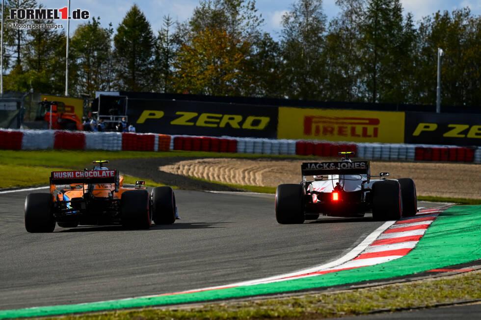 Kevin Magnussen (Haas) und Lando Norris (McLaren)