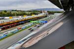 Lewis Hamilton (Mercedes), Max Verstappen (Red Bull), Valtteri Bottas (Mercedes) und Charles Leclerc (Ferrari)