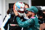 Esteban Ocon (Alpine) und Sebastian Vettel (Aston Martin)