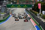 Carlos Sainz (Ferrari), Lando Norris (McLaren), George Russell (Williams), Lance Stroll (Aston Martin) und Fernando Alonso (Alpine)