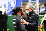 Lewis Hamilton (Mercedes) und Stefano Domenicali