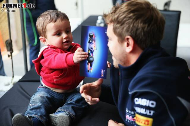 Photo of Sebastian Vettel & his  Daughter  Emilie Vettel
