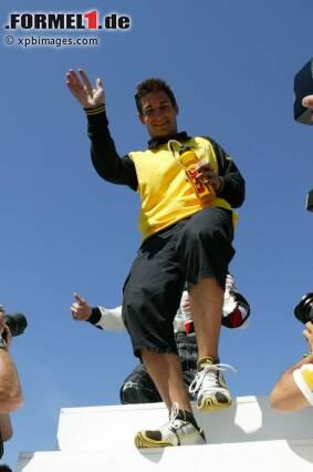 Juni 2004: Im zarten Alter von 22 Jahren betritt Timo Glock erstmals die große Grand-Prix-Bühne. Der junge Deutsche ersetzt bei Jordan den eigentlichen Stammpiloten Giorgio Pantano ab dem Großen Preis von Kanada.