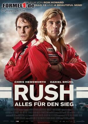 """Die Formel 1 im Jahr 1976. Der Kampf Mann gegen Mann. Im ständigen Bewusstsein der Gefahr, die hinter jeder Kurve lauern kann. Der Motorsport ist zu dieser Zeit alles andere als sicher. Schwere Unfälle sind beinahe an der Tagesordnung, selbst Todesfälle sind keine Ausnahme. Und doch gibt es sie: PS-Helden, die Sonntag für Sonntag alles daran setzen, ihre Rivalen hinter sich zu lassen. Rennfahrer wie James Hunt oder Niki Lauda, die zu den Besten ihrer Zunft zählen. Rennfahrer, die nur ein Ziel kennen. Und sie tun einfach alles dafür, es zu erreichen. """"Rush - Alles für den Sieg"""", das ist ihre Geschichte. Und diese Geschichte kommt bald in die deutschen Kinos. Sehen Sie hier vorab einige Filmszenen und erfahren Sie mehr über den spektakulären Blockbuster von Hollywood-Regisseur Ron Howard!"""