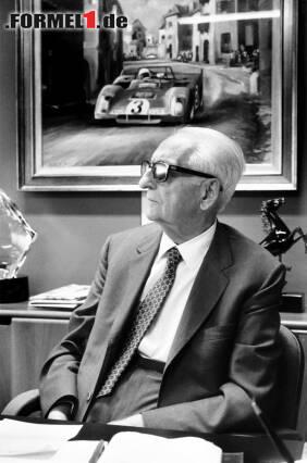 """Mit ihm hat alles angefangen: Enzo Ferrari gründete 1929 die Scuderia Ferrari, die seit Beginn der Formel-1-Weltmeisterschaft im Jahr 1950 fester Bestandteil eben dieser ist. Gleich in den ersten Jahren wurden einige Rennleiter verschlissen: Federico Giberti (1950-1951), Nello Ugolini (1952-1955), Eraldo Sculati (1956) und Mino Amorotti (1957). Wahrer Chef war bis zu seinem Tod im Jahr 1988 sowieso immer der """"Commendatore""""."""