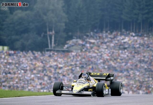 Die Formel-1-Karriere von Gerhard Berger (geboren am 27. August 1959 in Wörgl) beginnt beim Großen Preis von Österreich 1984, dem zwölften von 16 Saisonläufen. Mit dem ATS-BMW kommt Berger bei seinem Debüt auf Platz zwölf ins Ziel. Bei seinem zweiten Start in Monza wird er Sechster, bekommt aber keinen WM-Punkt, weil ATS nur Teamkollege Manfred Winkelhock für Punkte gemeldet hat.