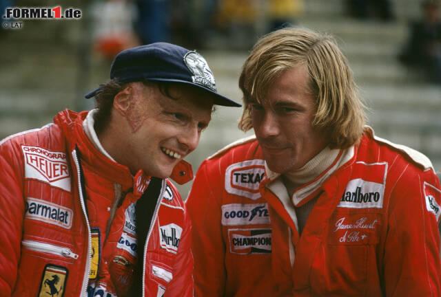 1976: Niki Lauda gegen James Hunt: Der Kampf des Perfektionisten aus Österreich gegen den englischen Playboy ist so etwas wie die Mutter der WM-Duelle, und der Spannungsbogen der Saison 1976 bot sogar Material für die ganz große Leinwand.