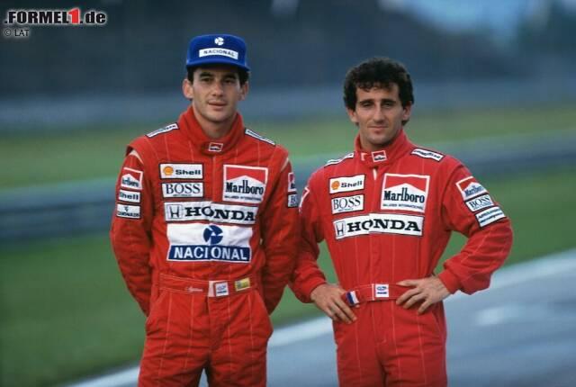 Bevor Michael Schumacher die meisten seiner Bestmarken knackte, war Alain Prost in vieler Hinsicht der Rekordmann der Formel 1. Bei 199 Grand-Prix-Starts glückten dem kleinen Mann aus Lorette an der Loire 51 Siege, 106 Podien und 33 Pole-Positions. Seine vier WM-Titel, drei davon für McLaren und einer für Williams, sind bis heute die einzigen Kronen, die sich ein Franzose sicherte. Doch kein Prost ohne Ayrton Senna: Die Rivalität mit dem Brasilianer bestimmte seine Karriere.