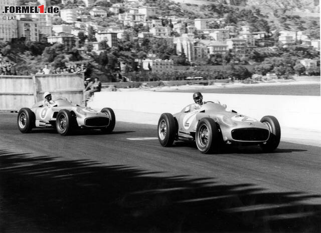 #10 - Mercedes 1954-1955 (Pole-Position-Quote 62 Prozent): Der Mercedes W196 wurde in den Jahren 1954 und 1955 insgesamt nur bei 13 Grands Prix eingesetzt, doch mit acht Pole-Postions und Rennsiegen sowie zwei Fahrertiteln durch Juan Manuel Fangio war dieser Silberpfeil in seiner kurzen Einsatzzeit überaus erfolgreich und das beste Auto dieser Jahre.
