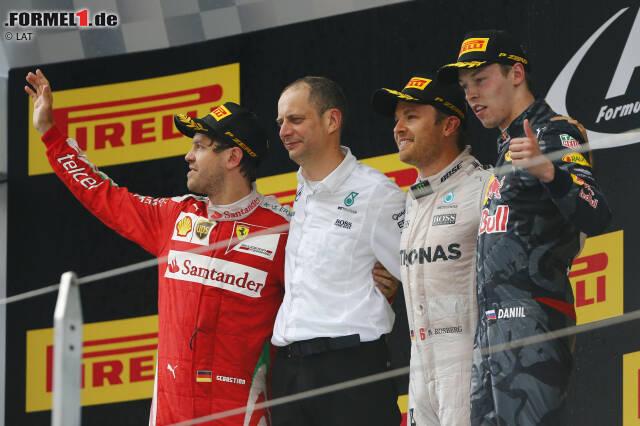 Nico Rosberg setzt in Schanghai seine Siegesserie fort: Sechster Grand-Prix-Triumph hintereinander, die ersten drei Saisonrennen 2016 gewonnen - das hat in der Formel 1 noch keiner geschafft, der nicht irgendwann einmal Weltmeister wurde. Ein gutes Omen?