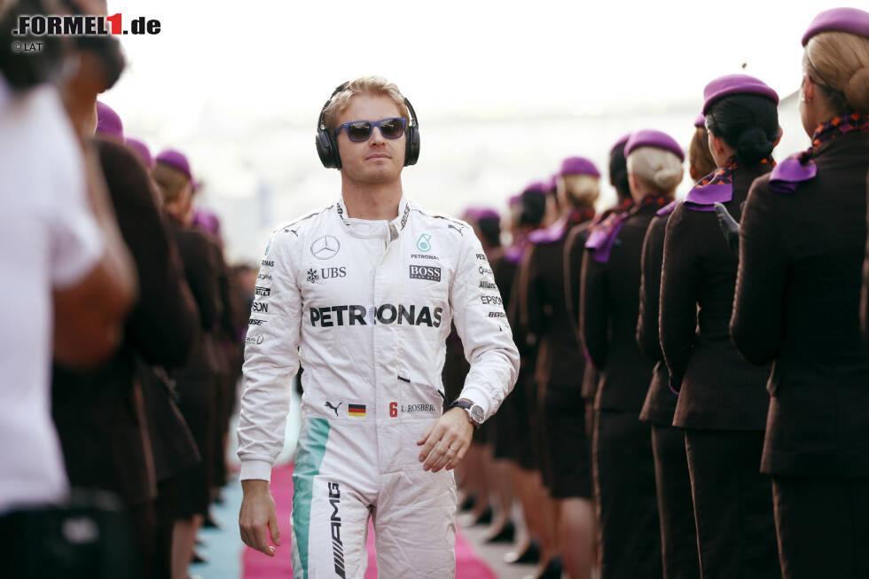 """Nico Rosberg (Mercedes, für 2017 zurückgetreten): """"Beautiful Day"""" von U2, """"Surfin' U.S.A."""" von den Beach Boys und """"Sex On Fire"""" von Kings of Leon."""