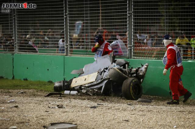 In Runde 17 des Saisonauftakts hält die Formel den Atem an: Von Fernando Alonsos McLaren ist nur noch Schrott übrig. Doch was ist passiert?