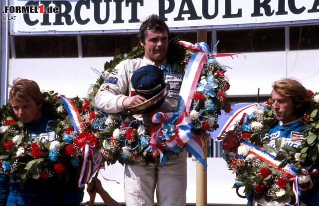Formel-1-Saison 1980: 7 verschiedene Sieger in 14 Rennen - Alan Jones (5), Nelson Piquet (3), Rene Arnoux (2), Jean-Pierre Jabouille, Jacques Laffite, Didier Pironi, Carlos Reutemann (je 1)