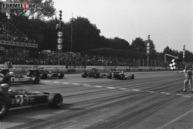 Die knappsten Zieleinläufe in der Formel-1-Historie waren das Resultat ganz unterschiedlicher Rennen. Nicht nur Windschattenduelle und eine Renndramaturgie, die zum Kauen von Fingernägeln veranlasst, war daran schuld. Auch das Einüben von Siegerfotos und Stallorder bescherten Fotofinishes. Das sind die Top 10.