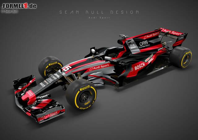 Wer träumt nicht von einem Audi-Einstieg in die Formel 1? Die Ingolstädter standen bereits einmal an der Schwelle zu einem Einstieg mit Red Bull, entschieden sich aber dann dagegen. So könnte ein Audi-Formel-1-Fahrzeug aussehen. Das Design orientiert sich am letzten R18, dem bis 2016 eingesetzten LMP1-Sportwagen.