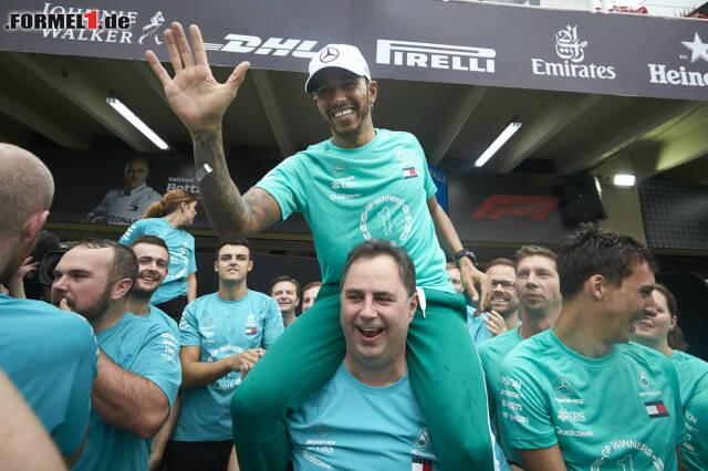 1. Lewis Hamilton - Letzter Sieg: Großer Preis von Abu Dhabi 2018 für Mercedes