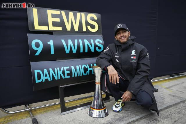 1. Lewis Hamilton - Letzter Sieg: Großer Preis der Eifel 2020 für Mercedes