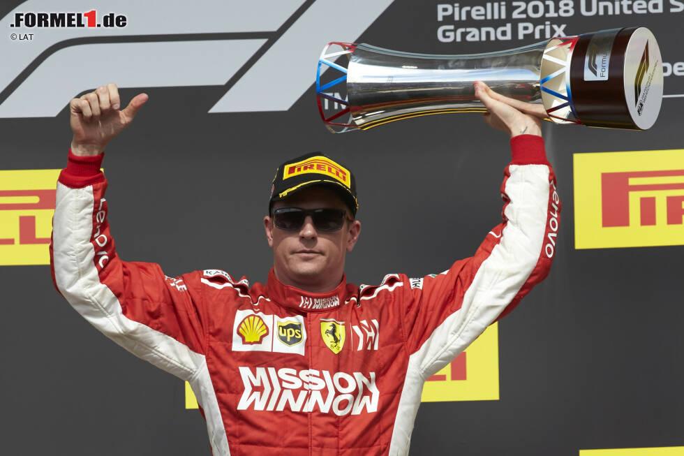 6. Kimi Räikkönen - Letzter Sieg: Großer Preis der USA 2018 für Ferrari
