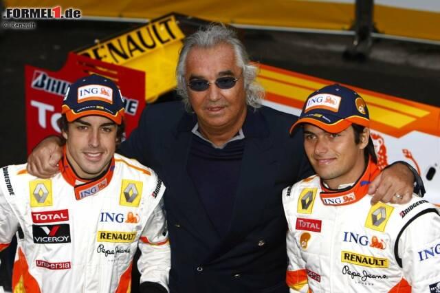 """Flavio Briatore (Renault): Mit """"Schumi"""" hatte Briatore 1994 und 1995 für Benetton zwei WM-Titel gewonnen, mit Fernando Alonso 2005 und 2006 zwei weitere Meisterschaften für Renault. Doch dann kam Singapur 2008 ..."""