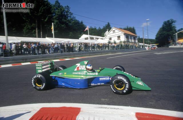 Das Team aus Silverstone, das heute Racing Point heißt, begann 1991 unter dem Namen Jorden. Im 191 fährt Michael Schumacher in Spa sein erstes Formel-1-Rennen.