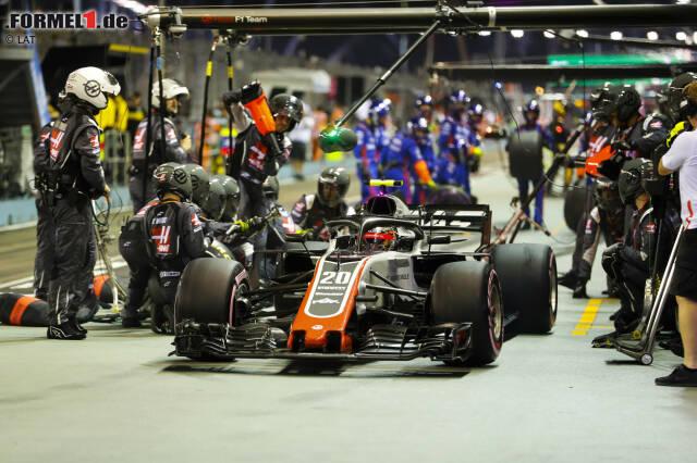 Kevin Magnussen (5): Mit Hypersofts sorgte er am Rennende für Furore, aber die schnellste Runde war nicht mehr als Kosmetik. Dass er gegen Grosjean dermaßen hinterherhinkte, konnte sich Magnussen in Singapur selbst nicht erklären. Das darf ihm nicht zu oft passieren, wenn er weiter Formel 1 fahren will.