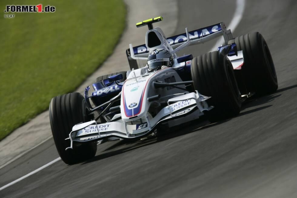 2007: BMW-Sauber F1.07 Debüt beim GP USA in Indianapolis als Ersatz für Robert Kubica