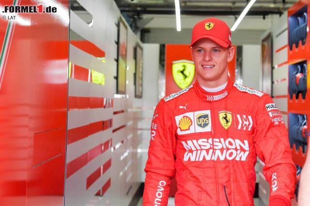 Historisch: Mick Schumacher zeigt sich am ersten Testtag in Bahrain erstmals in Rot ...