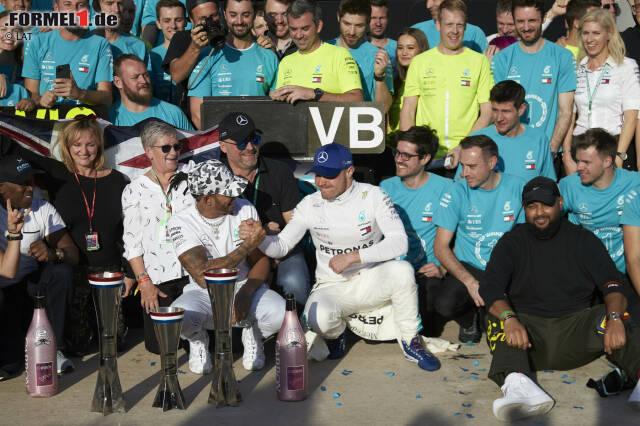 Valtteri Bottas hatte im WM-Kampf 2019 keine Chance gegen Lewis Hamilton. Mit rund 80 Prozent der Punkte des Weltmeisters steht der Finne historisch aber sogar recht gut da. Wir blicken auf die größten Unterschiede zwischen einem Weltmeister und seinem Teamkollegen in den vergangenen 40 Jahren.