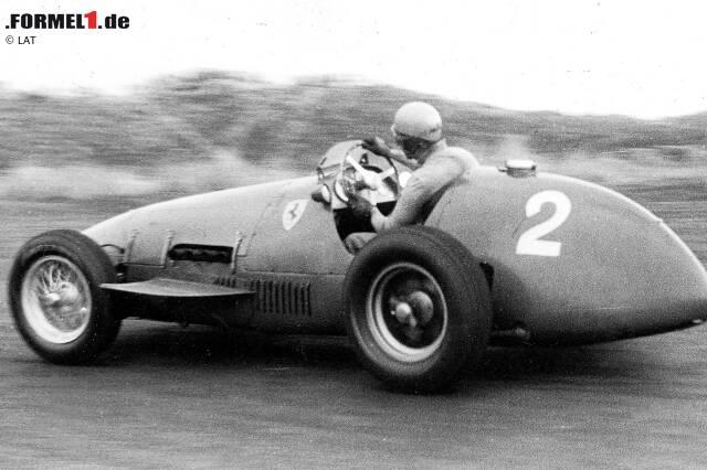 Ausgerechnet beim Heimspiel in Monza reißt die Serie - obwohl Ferrari sogar gleich fünf Autos einsetzt! Zwar gewinnt Ascari auch dort, doch obwohl seine Teamkollegen Luigi Villoresi und Farina von den Startplätzen zwei und drei ins Rennen gehen, schiebt sich Jose Froilan Gonzalez (Maserati) im Rennen noch an ihnen vorbei.