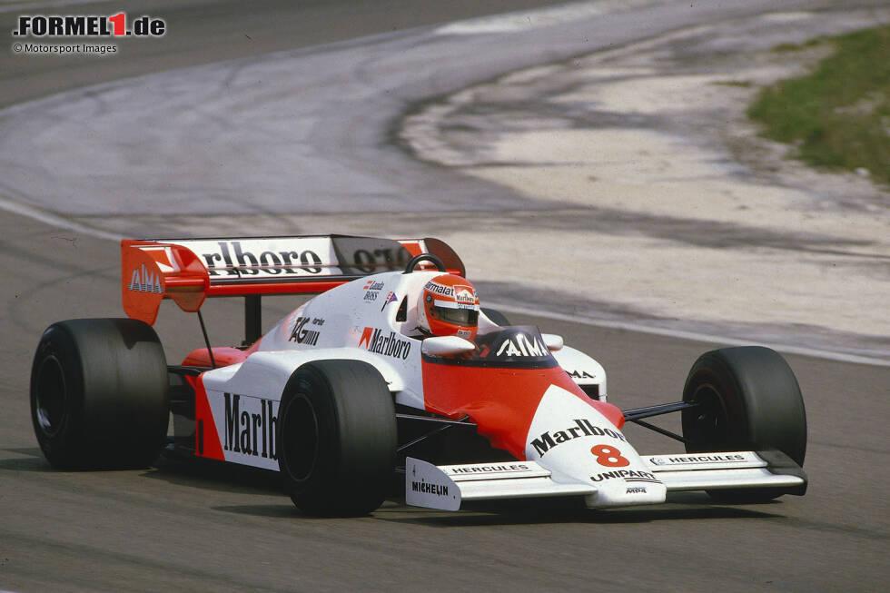 8 Siege: McLaren von Großbritannien 1984 bis Brasilien 1985 - Im teaminternen Zweikampf um die WM ließen Niki Lauda und Alain Prost 1984 nichts anbrennen. Sie machten die letzten sieben Saisonrennen unter sich aus - und Lauda gewann um einen halben Punkt. Prost siegte auch zum Auftakt '85, bevor Ayrton Senna im Lotus die Strähne beendete.