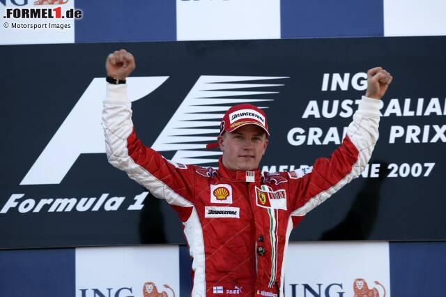 Platz 10: Kimi Räikkönen (27 Jahre, 152 Tage) - Australien 2007