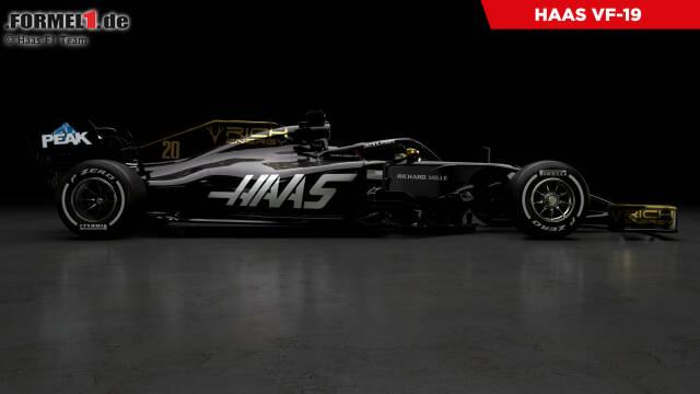 Präsentation Haas VF-19 (Lackierung)