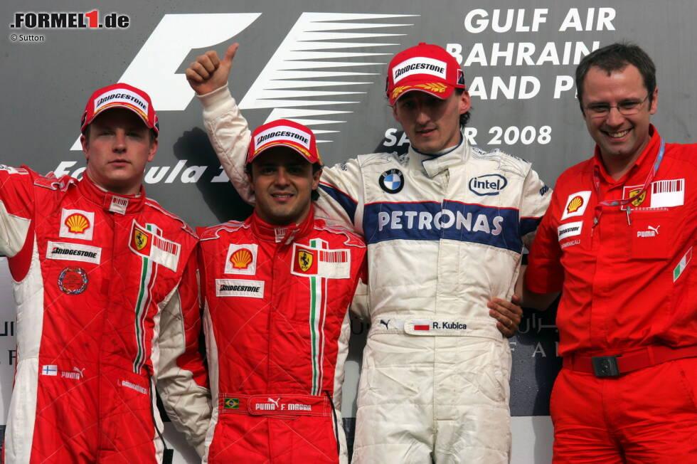 #9: Robert Kubica - 23 Jahre, 3 Monate, 30 Tage (Bahrain 2008) - Platzierung im Rennen: P3