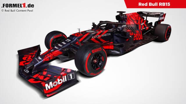Der Red Bull RB15 zeigt sich optisch deutlich verändert. Klick dich durch die besten Bilder!