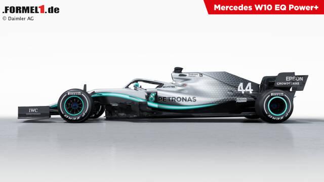 Der Mercedes hat im Heck eine auffällige Tarnlackierung. Klick dich durch die besten Bilder des neuen W10: