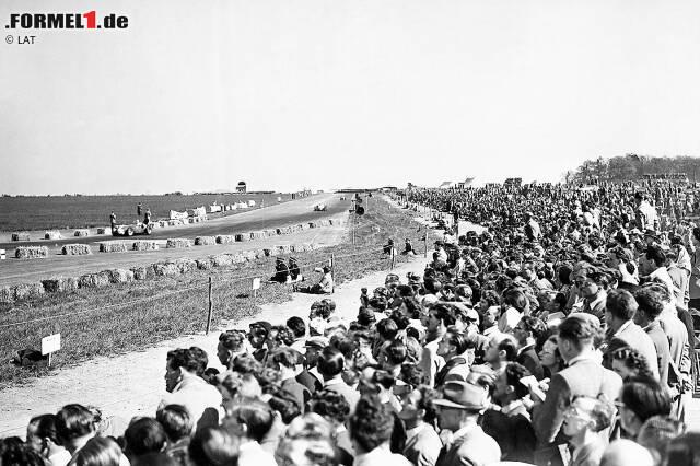 """Silverstone (1950) - Nicht umsonst gilt Silverstone als """"Wiege der Formel 1"""". 1950 findet hier das erste Rennen der Königsklasse überhaupt statt. Sieger: Giuseppe Farina auf Alfa Romeo. Es soll in der mittlerweile 70-jährigen Geschichte der Formel 1 allerdings das einzige Mal bleiben, dass eine Saison in Großbritannien beginnt."""