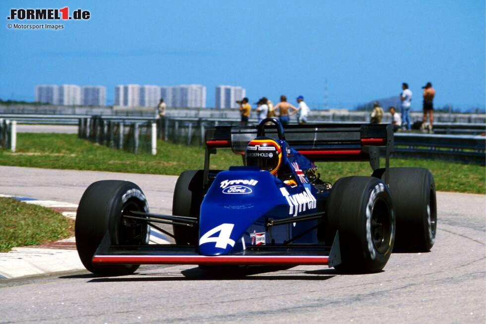 Fotostrecke: Beim Grand Prix von Brasilien 1984 debütieren in Rio de Janeiro drei bemerkenswerte Rookies. Stefan Bellof (Foto) auf Tyrrell, Ayrton Senna auf Toleman und Martin Brundle ebenfalls auf Tyrrell. Jetzt durch die besten Fotos klicken!