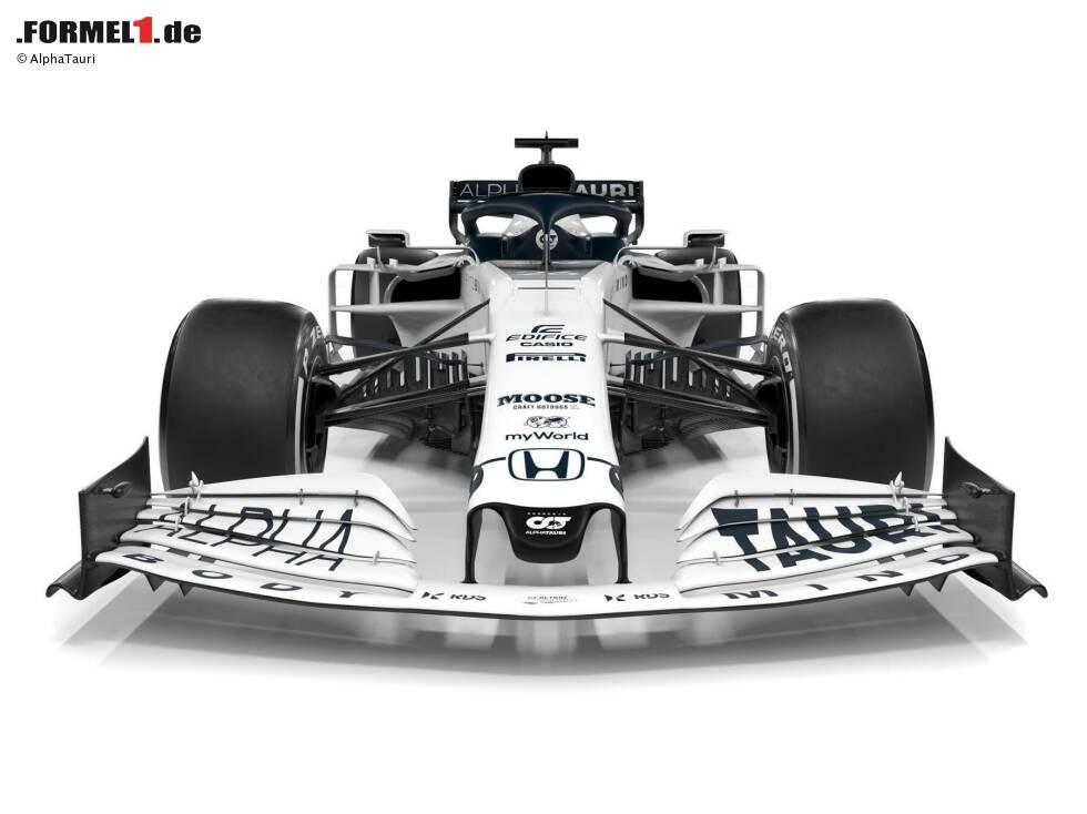 Hier sind die ersten Bilder des neuen AlphaTauri-Honda AT01 für die Formel-1-Saison 2020, wie er vom ehemaligen Toro-Rosso-Team vorgestellt wurde!