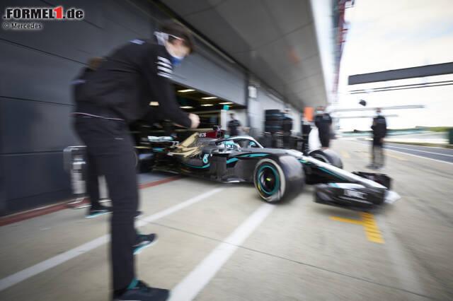 Mercedes testete am Dienstag und Mittwoch in Silverstone. Es war der erste Formel-1-Test unter Corona-Bedingungen.