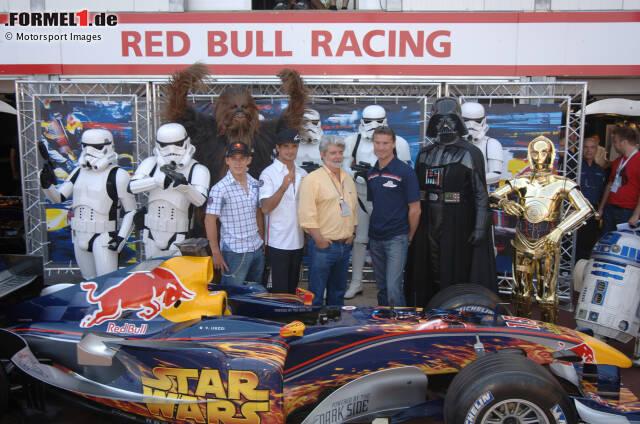 Dank Red Bull steht der Große Preis von Monaco 2005 ganz im Zeichen von Star Wars. Aber mit wem ist die Macht an diesem Wochenende wirklich ...?