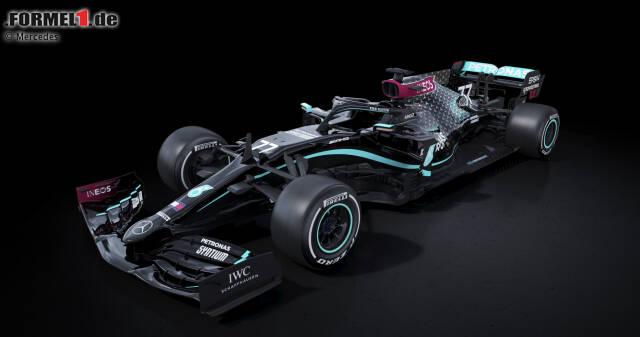 Mercedes verabschiedet sich von seinem traditionellen Silber und geht in Schwarz in die Saison 2020. Es ist nicht der erste radikale Designwechsel in der Formel-1-Historie, wie unsere Fotostrecke zeigt!