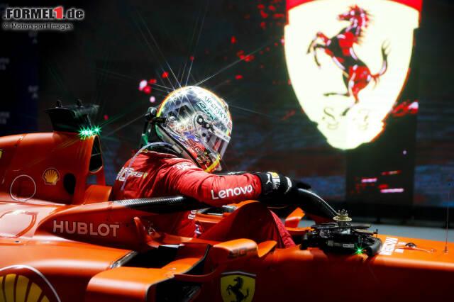 101 Rennen hat Sebastian Vettel seit 2015 für die Scuderia Ferrari absolviert. Vor Saisonbeginn 2020 kann er auf 14 Siege, 12 Pole-Positionen und insgesamt 54 Podestplätze in Rot verweisen. Wir blicken zurück auf die vergangenen fünf Jahre!
