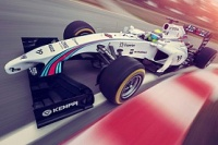 Der Williams FW36 im Martini-Design