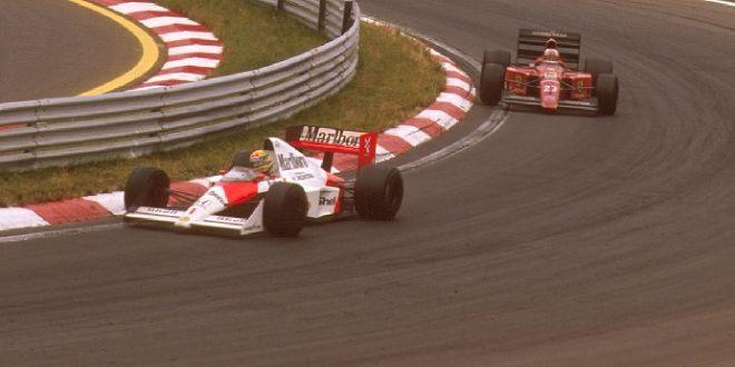 Duell Senna vs. Mansell