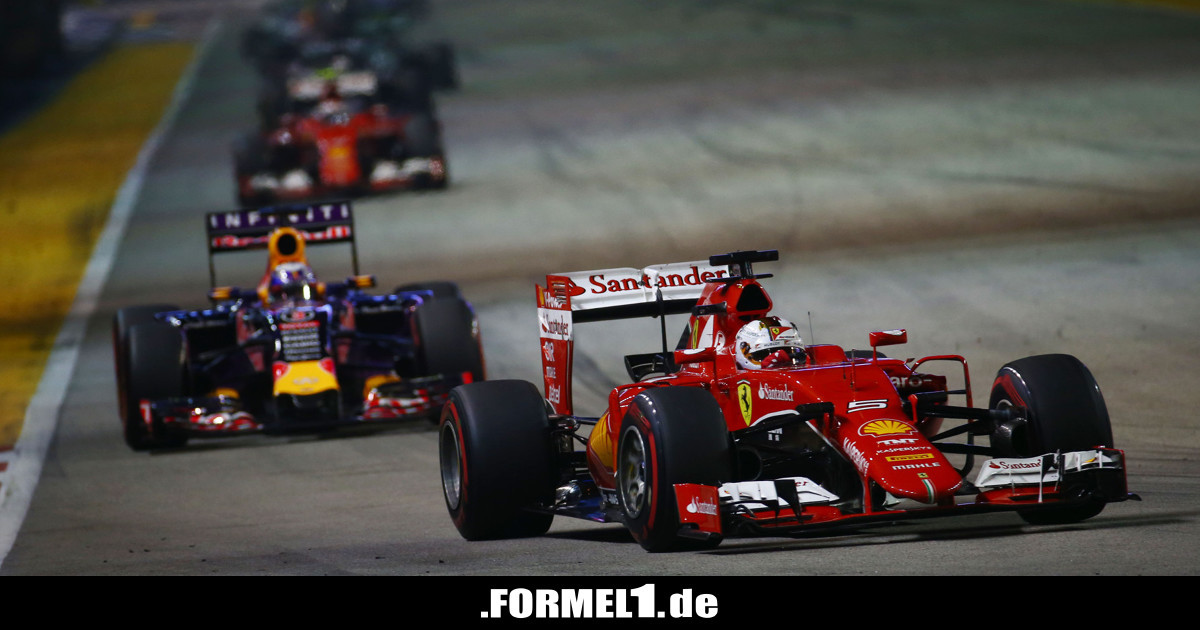 formel 1 singapur 2015 sebastian vettel cruist zum sieg. Black Bedroom Furniture Sets. Home Design Ideas