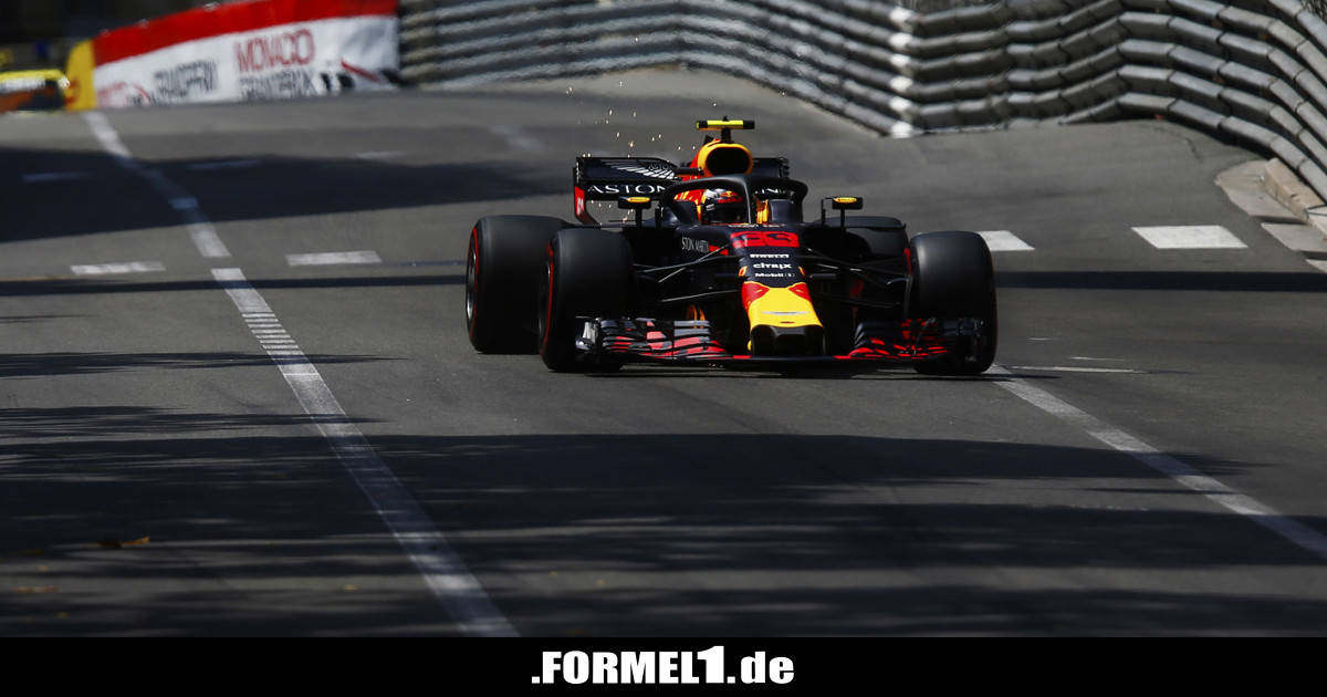 formel 1 monaco 2018 verstappen crasht kurz vor quali. Black Bedroom Furniture Sets. Home Design Ideas
