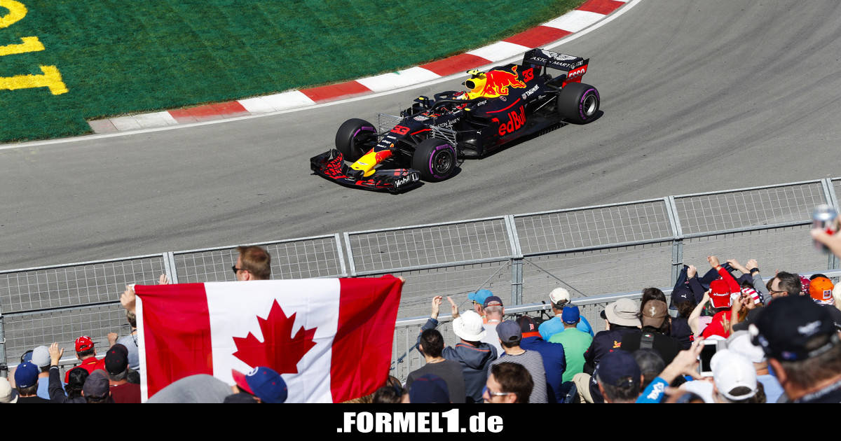 formel 1 kanada 2018 verstappen bestzeit trotz reifenschaden. Black Bedroom Furniture Sets. Home Design Ideas